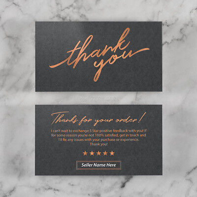 500 Thank You For Your Purchase - Store Seller Business Cards 16pt UV Gloss