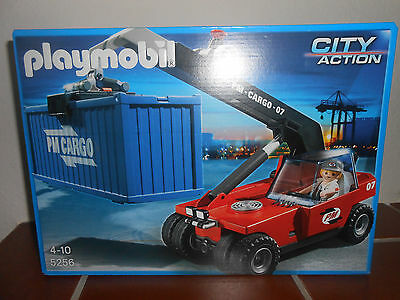 Neu Playmobil 5256 Containerstapler City Action Cargo Kran OVP