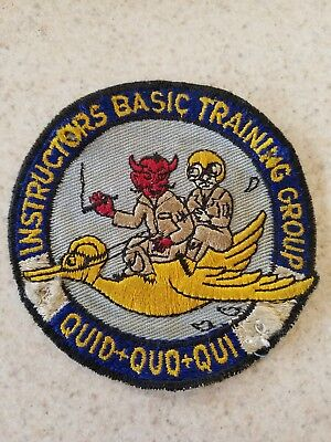 Extremely Rare but Rough instructors Basic Training Group Quid+Quo+Qui Patch.