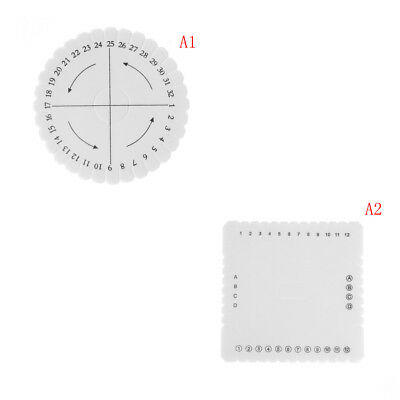 Square Round Braiding Cord Disc EVA Foam DIY Braided Plate Tool Durable~