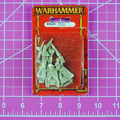 Warhammer Fantasy Wood Elf Command NIB Metal - OOP Games Workshop Citadel Elves