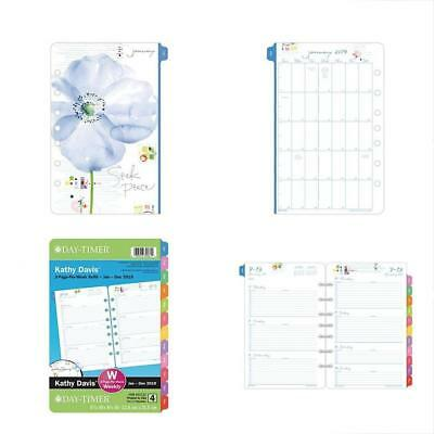 """Day-Timer Two Page Per Week Planner Refill, January 2019 December 2019, 5-1/2"""" X"""