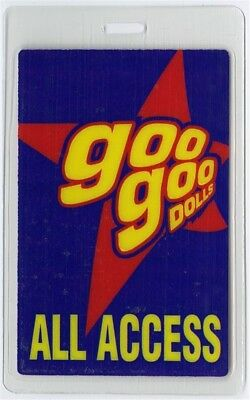 Goo Goo Dolls authentic 2000's concert tour Laminated Backstage Pass ALL ACCESS