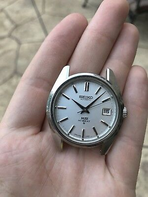 1970 Vintage King Seiko 5625-7000 Automatic Hi-Beat Ks Date Mens Watch Medallion