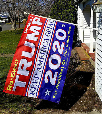 Donald Trump 2020 3x5 ft Flag Keep America Great President US Patriot 150x90cm