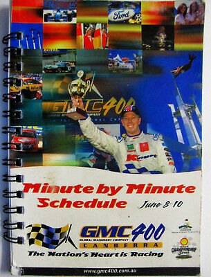 Canberra Gmc 400 Race Schedule Autographed By Larry Perkins And Russell Ingall