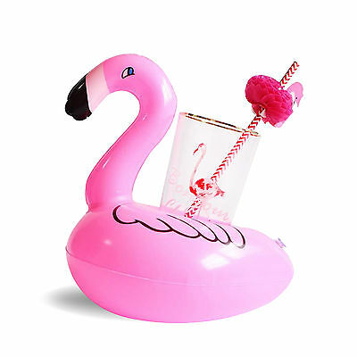 1x Inflatable Mini Flamingo Floating Drink Holder Hot Tub Pool Bathing Accessory