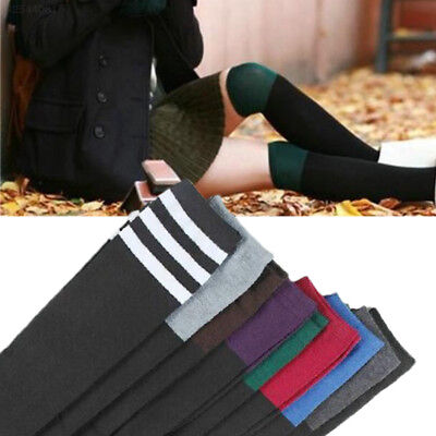 Knitted Wool Knee-High Long Socks Thigh Cotton Winter Warm Autumn Stovepipe