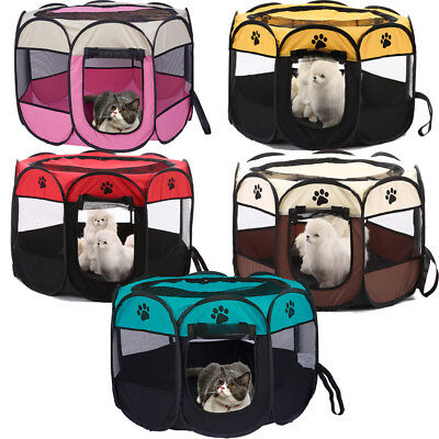 Portable Light Weight Pop Up Dog Pet Kennel House Tent Travel Cage Puppy Cat Pet