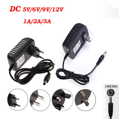 AC 100-240V to DC Power Supply Charger Adapter Converter Cord Cables 5.5mm*2.1mm