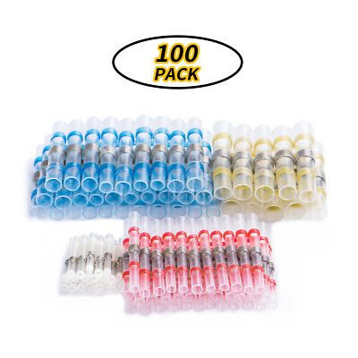 100PCS Auto Car Solder Seal Heat Shrink Wire Connector Terminals Waterproof Tool