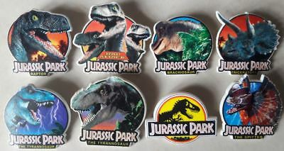 Collection Pin's Jurassic Park (8 modèles)