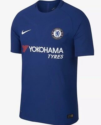 Nike 2017-18 Chelsea FC Vapor Aeroswift Home Shirt Blue Size Small BNWT