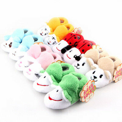 Toddler Baby Boy Girls Shoes Booties Slippers Soft Sole Crib Shoes Prewalker 6-9