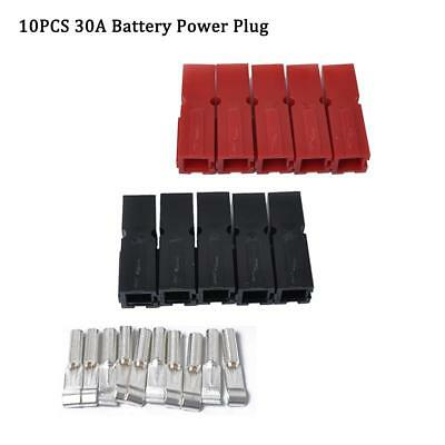 10x Car RV 30A Battery Quick Connect Electrical Connector Plug w/ Terminals