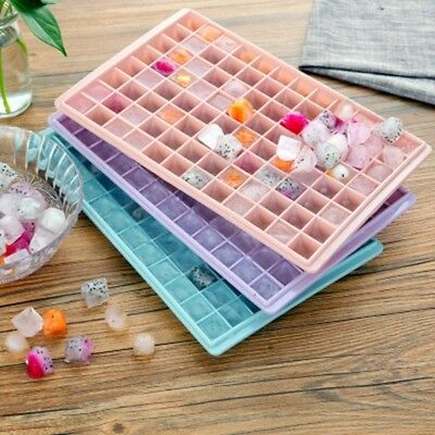 96 Cavity Large Silicone Food Grade Ice Cube Tray Square Mold Cubes UK Seller