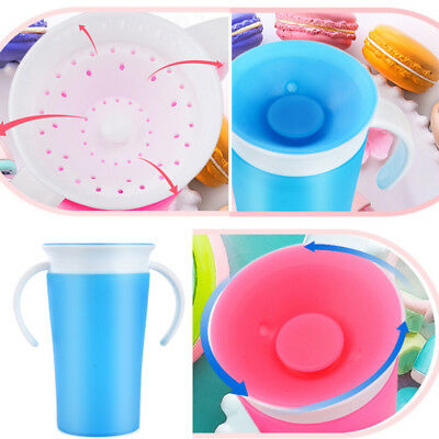 1Pc Silicone 360 Degree Leak-proof Baby Learning Drinking Water Cup Bottle Candy