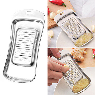 Stainless Steel Garlic Rocker Solid Garlic Press Ginger Grinding Mill Mud Tools