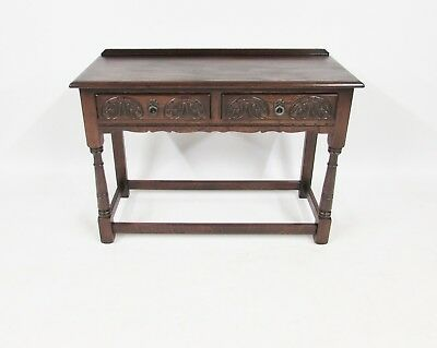 Wood Bros Old Charm 2 Drawer Hall Table In Tudor Brown Range  Delivery Available
