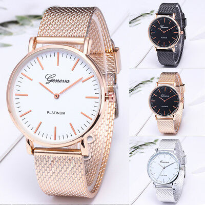 Geneva Luxury Women Mens Watch Stainless Steel Analog Quartz Analog Wrist Watch