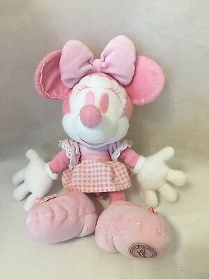 DISNEY STORE OFFICIAL Minnie Mouse Pink & White Plush Skirt RARE Special Edition