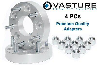 "4 PC 1.25"" 5x4.5 to 5x5.5 Wheel Spacers Adapters 5x114.3 to 5x139.7 12x1.5 studs"