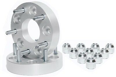 "4 1.25"" 32Mm Thick 5X4.75 To 5X4.5 Wheel Adapters 5X120 To 5X114.3 12X1.5 Studs"