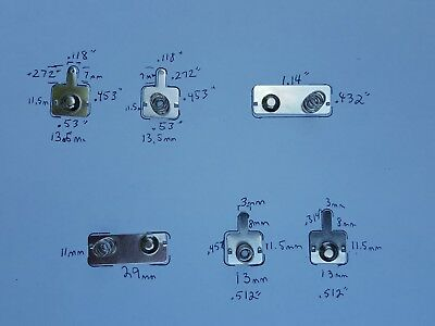 6 piece 4 AA Battery Box spring contacts + & - , 1 SET-  SELLER located in USA