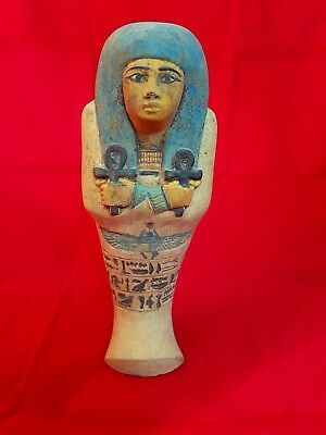 Egyptian Faience Ushabti Figure 18 dynasty 1550 BC Ancient Art & Antiquities