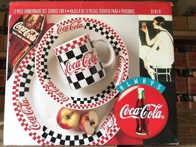 Coca-Cola Commemorative Dishes: Racing Checkered Outline