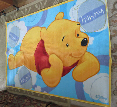 Winnie the Pooh Non Skid Area Rug Carpet 4' x 6.5' THINKING POOH Must See L@@K!