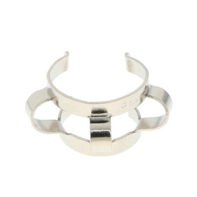 Stainless Steel Test Tube Clamp Keck Clips for Glass Ground Joints Lab Tool