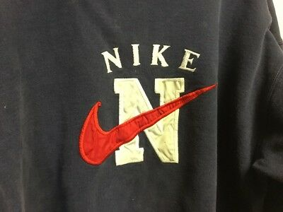 Vtg Nike Sweatshirt Size Xl Navy Blue Made In Usa Thick