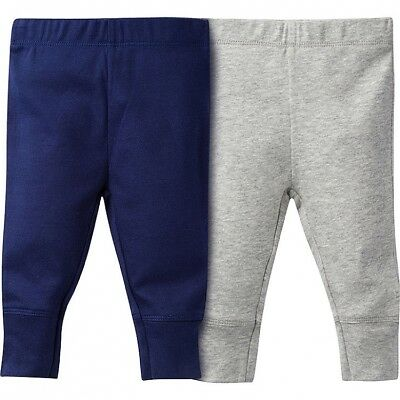Gerber Navy & Heather Gray Pants (Newborn)
