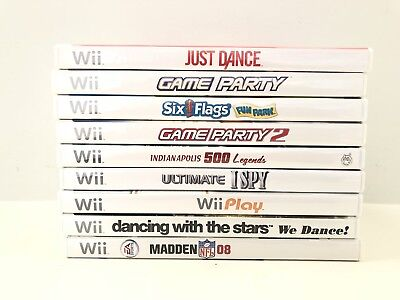 Nintendo Wii Video Games Lot of 9