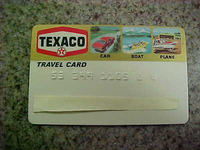 Vintage Texaco travel card. Expired Credit Card. expired 1978.