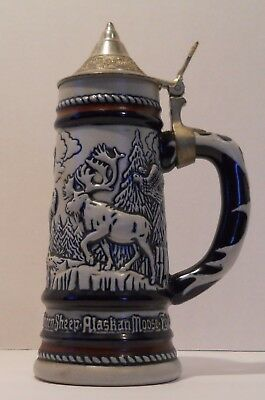 Avon Animal Beer Stein with Pewter Lid, Handcrafted in Brazil (1976) #865392