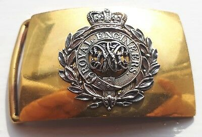 Brilliant Scarce William 4th Royal Engineers Officers Silver Brass Belt Buckle