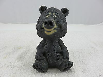 "Bobble Head Black Bear 4.5"" Tall Poly Resin Bobblehead"