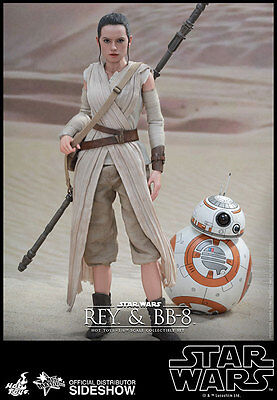 """HOT TOYS Star Wars Episode VII Force Awakens REY and BB-8 12"""" 1/6 Scale Figure"""