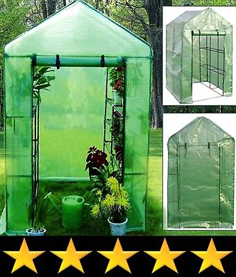 Garden Compact Walk In Greenhouse Frame Shelves Reinforced Cover Cold Frame New
