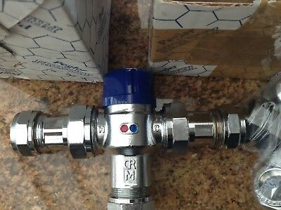 Pegler p402 Hot/cold Water Thermostatic inline  mixing valve 22MM