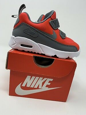 reputable site 7fe60 1931e BABY BOYS  Nike Air Max Tiny 90 Shoes, Red   Gray - Size 6C