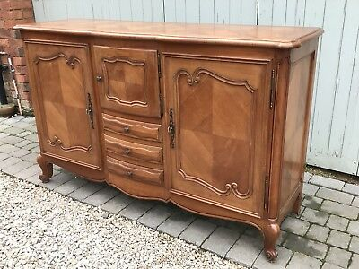 Vintage Louis XV Style French Country Parquetry Sideboard.Scrolled Legs. Sturdy