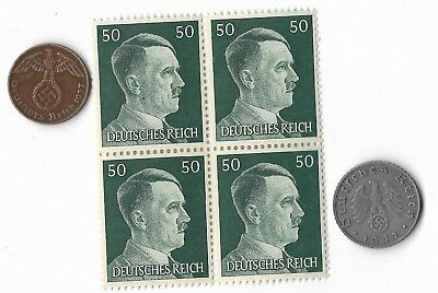 Authentic Rare Old German WWII WW2 Germany Coin Stamp Great Collection Odd Lot