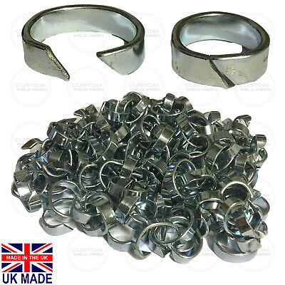 Netting Clips Zinc Plated Fencing Wire Mesh Chain link Barbed Wire Hog ring