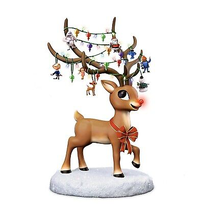 Bradford Exchange Rudolph The Red-Nosed Reindeer Illuminating Musical Figurine