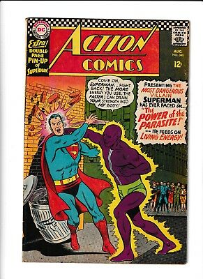 Action Comics #340 (Aug 1966, DC) Mid Grade First Appearance of Parasite