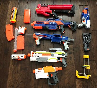Large Lot of NERF Guns.....Rapid Strike, Nerf Zeus and More