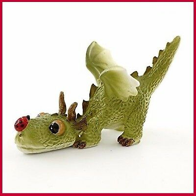FAIRY GARDEN FUN Dragon Playing Ladybug Miniature Dollhouse Figurine 4414 NEW